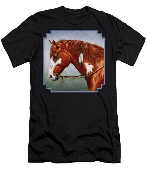 Native American War Horse Men's T-Shirt (Athletic Fit)
