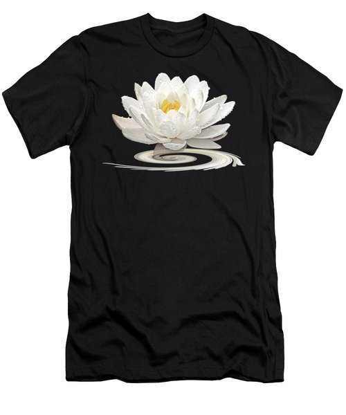Inner Glow - White Water Lily Men's T-Shirt (Athletic Fit)