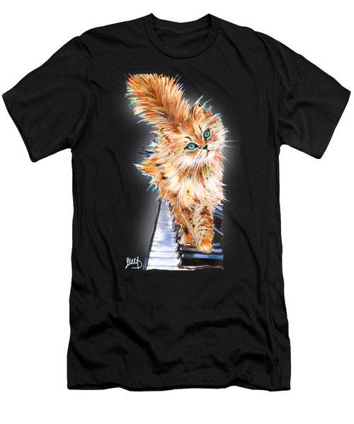 Cat Orange Men's T-Shirt (Athletic Fit)