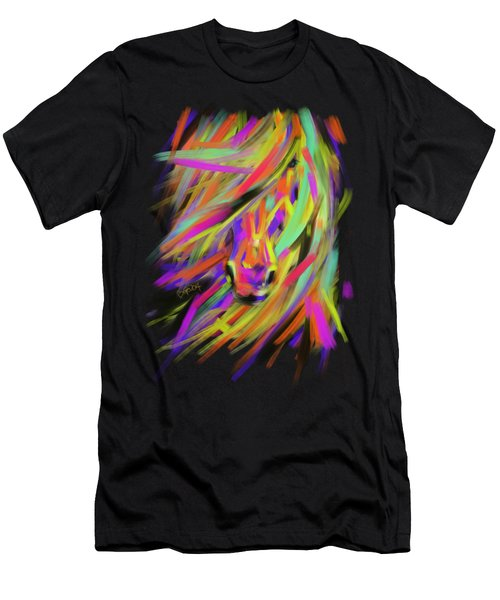 Horse Rainbow Hair Men's T-Shirt (Athletic Fit)