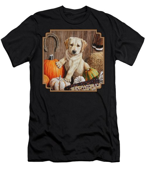 Pumpkin Puppy Men's T-Shirt (Athletic Fit)