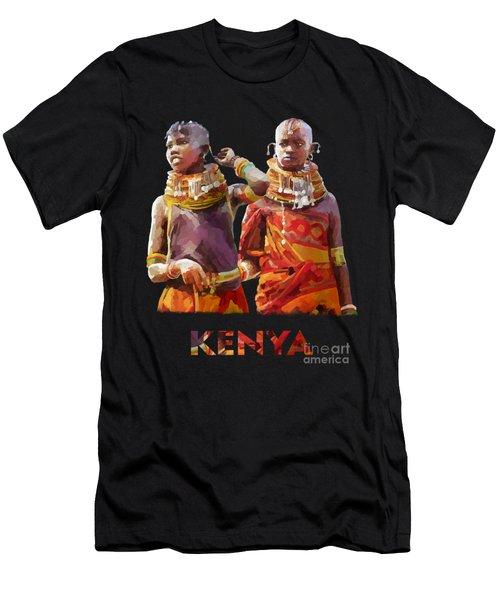 Young Turkana Girls Men's T-Shirt (Athletic Fit)