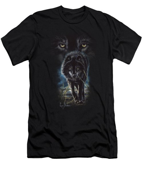 Black Wolf Hunting Men's T-Shirt (Athletic Fit)
