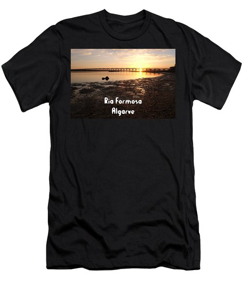 Sunset And Wooden Bridge In Ludo Men's T-Shirt (Athletic Fit)