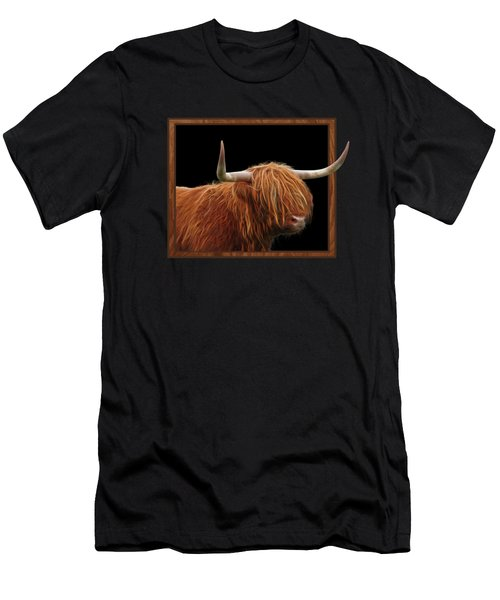 Bad Hair Day - Highland Cow Square Men's T-Shirt (Athletic Fit)