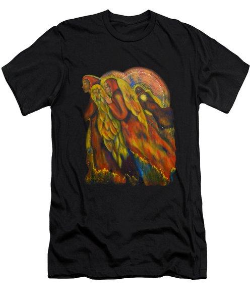 Heavenly Messengers Men's T-Shirt (Slim Fit) by Deborha Kerr