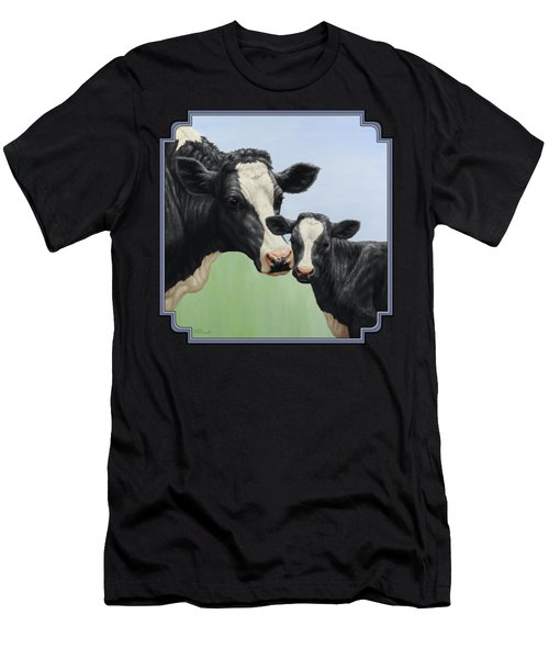 Holstein Cow And Calf Men's T-Shirt (Slim Fit) by Crista Forest