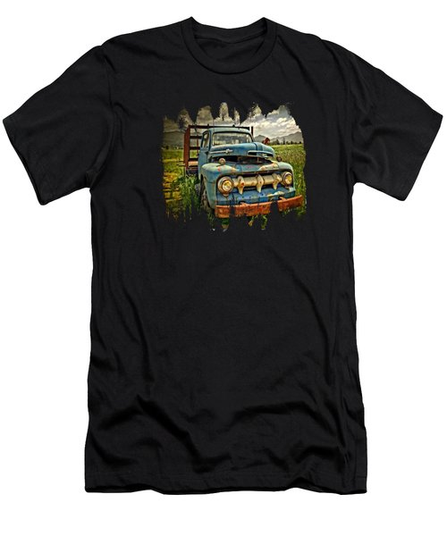 The Blue Classic 48 To 52 Ford Truck Men's T-Shirt (Athletic Fit)