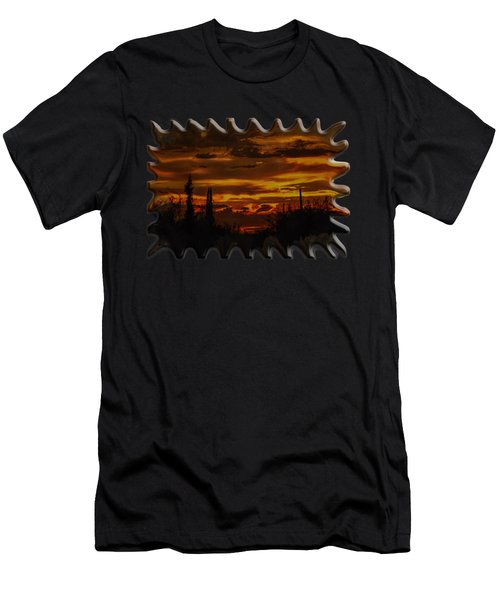 Men's T-Shirt (Athletic Fit) featuring the photograph Sunset No.16 by Mark Myhaver