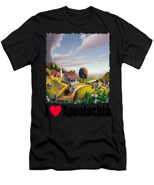 I Love Appalachia - Appalachian Blackberry Patch 1 Men's T-Shirt (Athletic Fit)