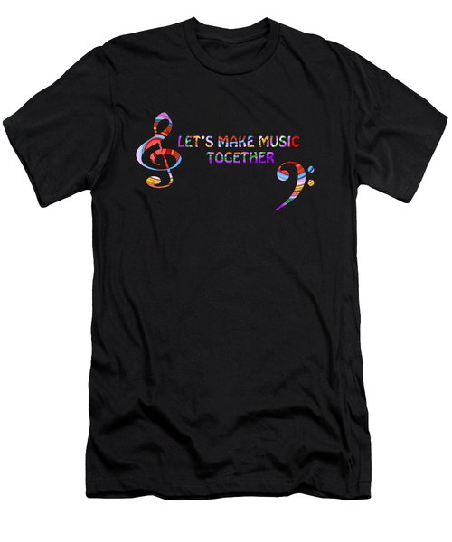 Let's Make Music Together Men's T-Shirt (Athletic Fit)