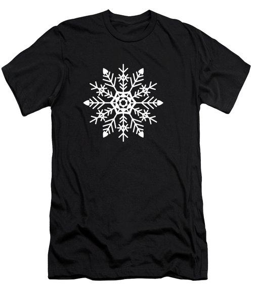 Snowflakes Black And White Men's T-Shirt (Athletic Fit)