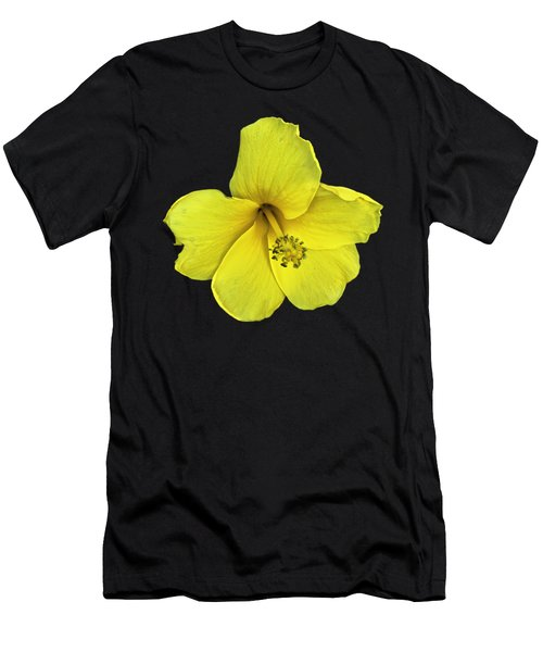 Men's T-Shirt (Athletic Fit) featuring the photograph Yellow Hibiscus by Mark Myhaver