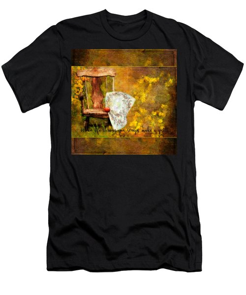 When Life Throws You Scraps, Make A Quilt Men's T-Shirt (Athletic Fit)