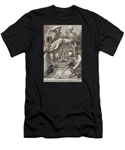Bernardino Genga - Allegorical Emblems Of Death Men's T-Shirt (Athletic Fit)