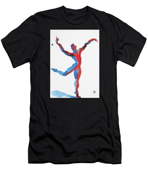 Ballet Dancer 3 Gesturing Men's T-Shirt (Athletic Fit)