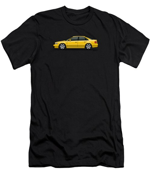 Audi A4 S4 Quattro B5 Type 8d Sedan Imola Yellow Men's T-Shirt (Athletic Fit)