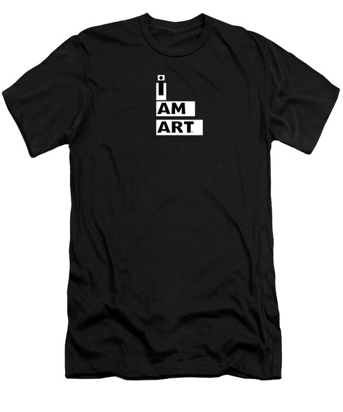 I Am Art Stripes- Design By Linda Woods Men's T-Shirt (Athletic Fit)