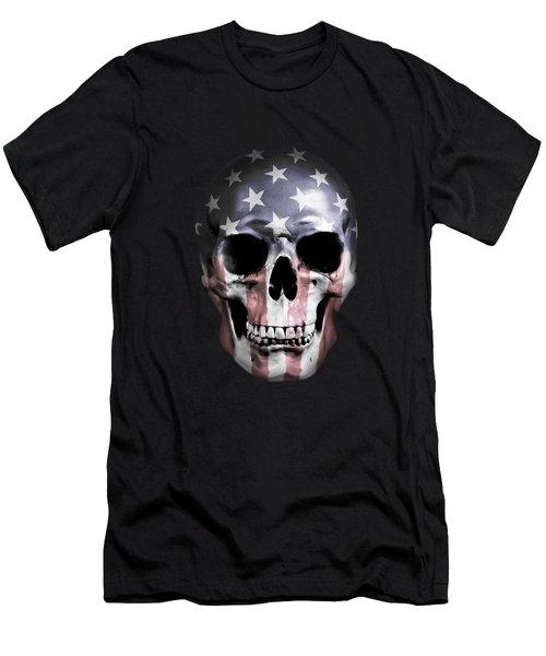 American Skull Men's T-Shirt (Slim Fit) by Nicklas Gustafsson