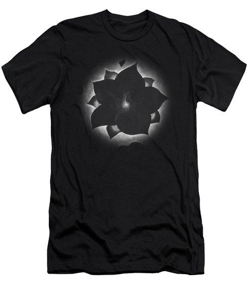 Fleur Et Coeurs Monochrome Men's T-Shirt (Athletic Fit)