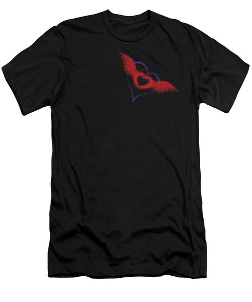 Let Your Heart Take Wings Men's T-Shirt (Athletic Fit)