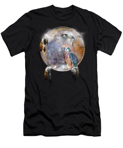 Dream Catcher - Hawk Spirit Men's T-Shirt (Athletic Fit)