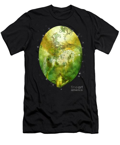 Unicorn Of The Forest  Men's T-Shirt (Athletic Fit)