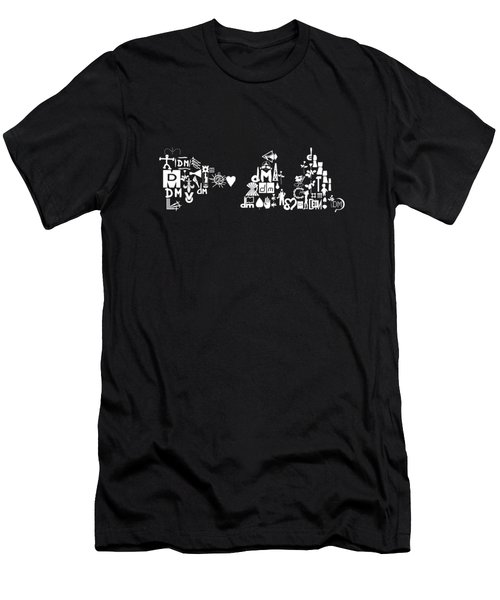 Delta Machine Logo With Old Logo White Men's T-Shirt (Athletic Fit)