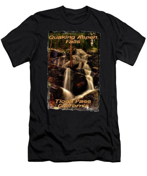 Quaking Aspen Falls Along Tioga Pass  Men's T-Shirt (Athletic Fit)