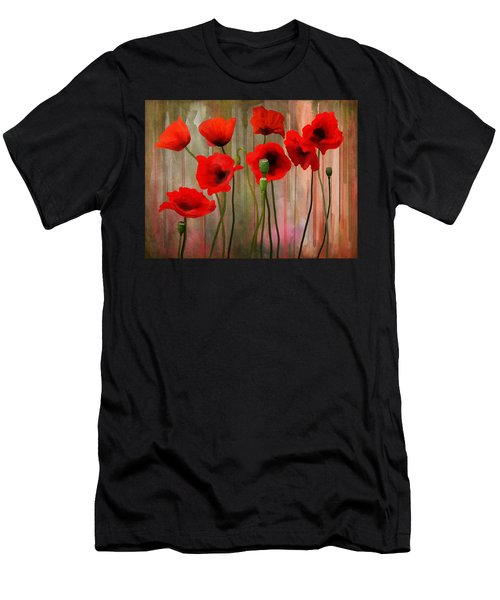Men's T-Shirt (Athletic Fit) featuring the painting Poppies  by Ivana Westin