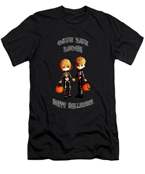 Skeleton Twinz Halloween Men's T-Shirt (Athletic Fit)