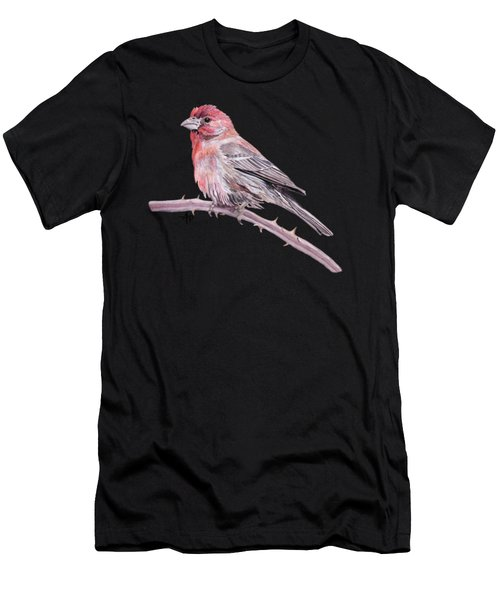 House Finch Watercolor Men's T-Shirt (Athletic Fit)