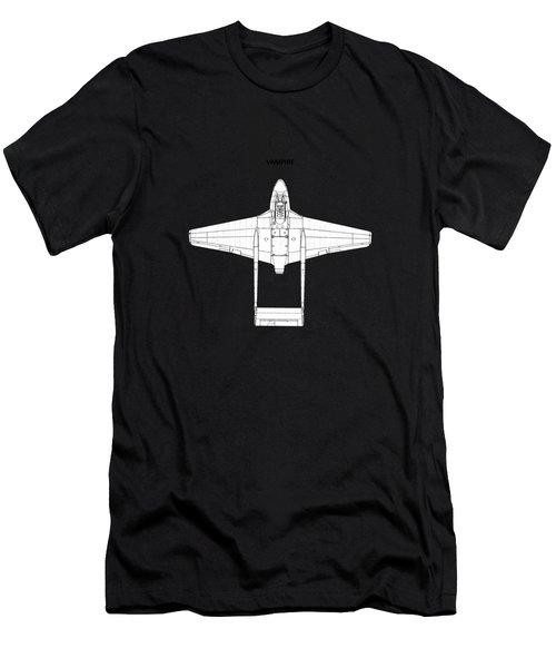 The De Havilland Vampire Men's T-Shirt (Athletic Fit)