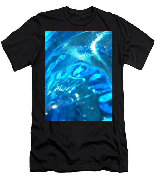 The Beauty Of Blue Glass Men's T-Shirt (Slim Fit) by Samantha Thome