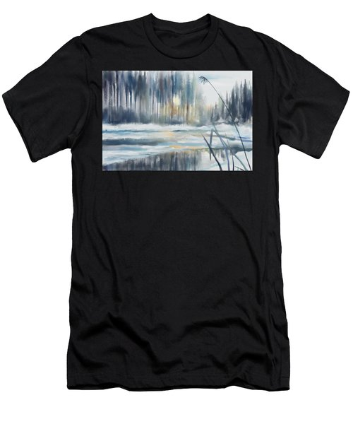 Men's T-Shirt (Athletic Fit) featuring the digital art Snow From Yesterday by Ivana Westin