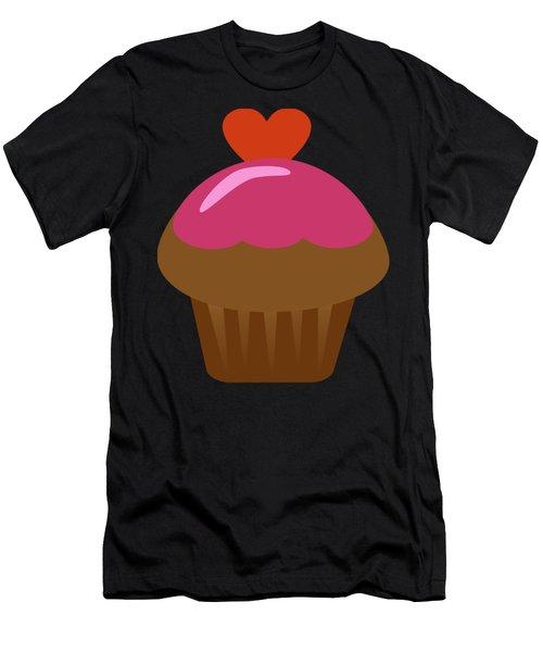 Chocolate Cupcake  Men's T-Shirt (Athletic Fit)