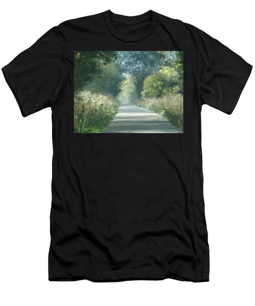 Men's T-Shirt (Athletic Fit) featuring the pastel The Road Back Home by Ivana Westin