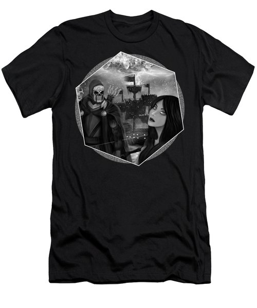 Now Or Never - Black And White Fantasy Art Men's T-Shirt (Athletic Fit)