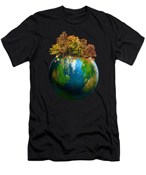 Men's T-Shirt (Athletic Fit) featuring the painting There Is Only One by Ivana Westin