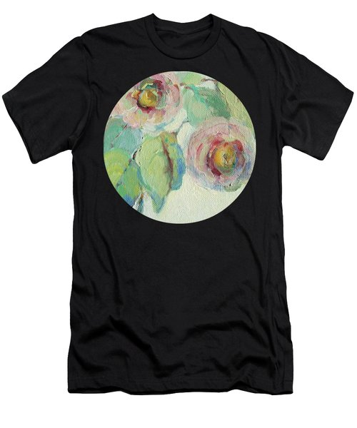 Impressionist Roses  Men's T-Shirt (Athletic Fit)