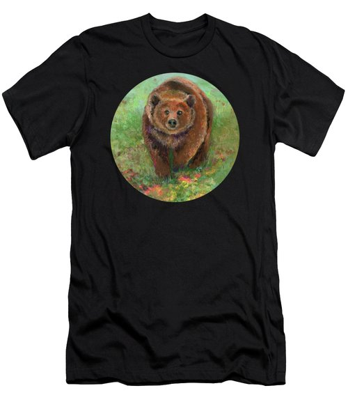 Grizzly In The Meadow Men's T-Shirt (Athletic Fit)