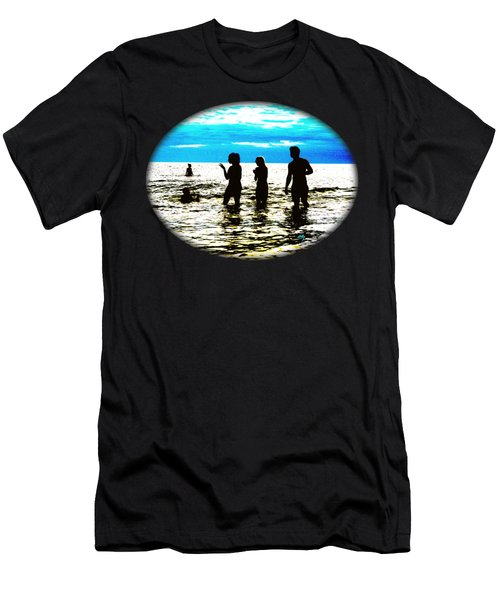 Hot Night At The Beach Men's T-Shirt (Athletic Fit)