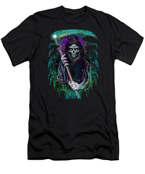 Galaxy Grim Reaper Fantasy Art Men's T-Shirt (Athletic Fit)