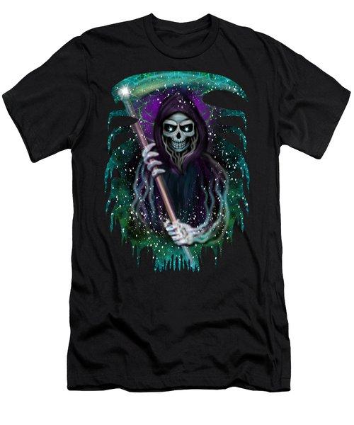 Galaxy Grim Reaper Fantasy Art Men's T-Shirt (Athletic Fit)