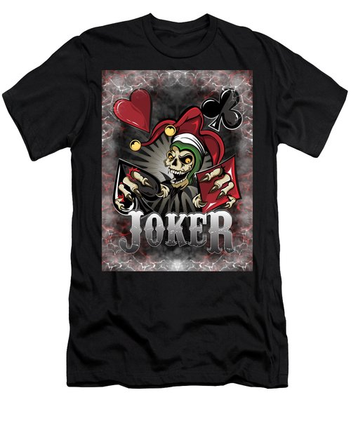 Joker Poker Skull Men's T-Shirt (Athletic Fit)
