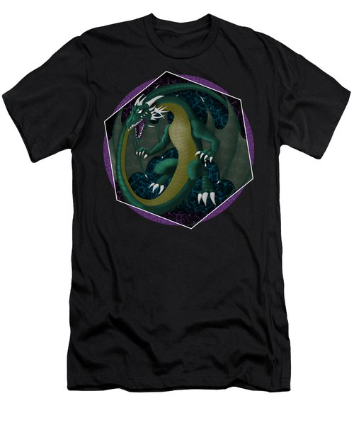 Electric Portal Dragon Men's T-Shirt (Athletic Fit)