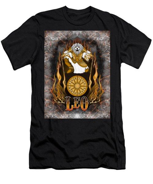 The Lion Leo Spirit Men's T-Shirt (Athletic Fit)