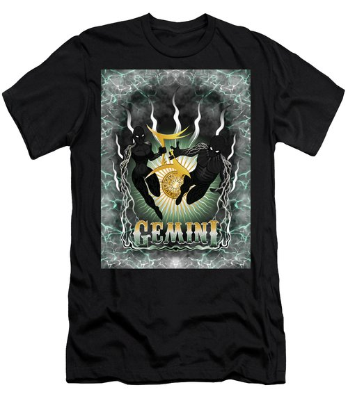 The Twins Gemini Spirits Men's T-Shirt (Athletic Fit)