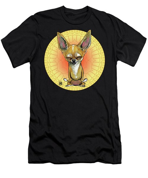 Meditating Chihuahua Men's T-Shirt (Athletic Fit)