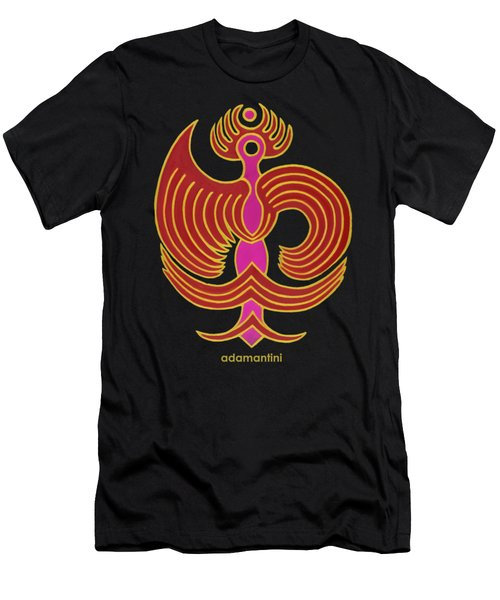 Celestial Red Phoenix Men's T-Shirt (Athletic Fit)